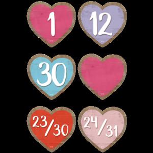 TCR8550 Home Sweet Classroom Hearts Calendar Days Image