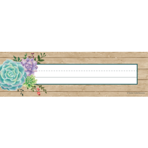 TCR8555 Rustic Bloom Flat Name Plates Image