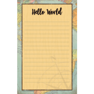 TCR8566 Travel the Map Notepad Image