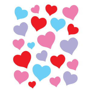 TCR8587 Charming Hearts Stickers Image
