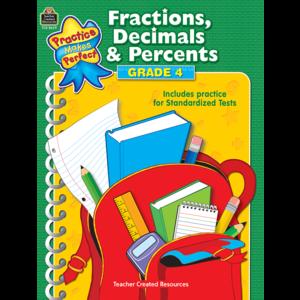 TCR8629 Fractions, Decimals & Percents Grade 4 Image