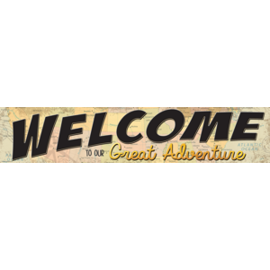 TCR8631 Travel the Map Welcome to Our Great Adventure Banner Image