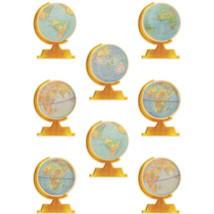 TCR8641 Travel the Map Globes Accents Image