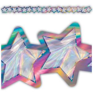 TCR8657 Iridescent Stars Die-Cut Border Trim Image