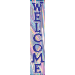 TCR8658 Iridescent Welcome Banner Image