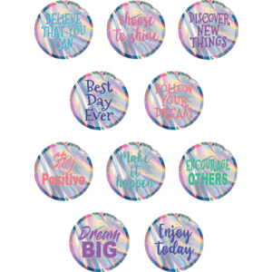 TCR8665 Iridescent Positive Sayings Accents Image