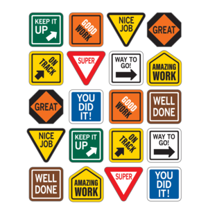 TCR8684 Under Construction Positive Stickers Image