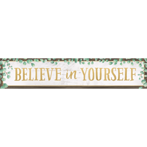 TCR8698 Eucalyptus Believe in Yourself Banner Image