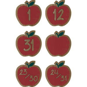 TCR8701 Home Sweet Classroom Apples Calendar Days Image