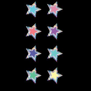 TCR8706 Iridescent Colorful Stars Mini Stickers Image