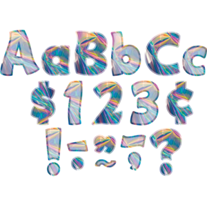 """TCR8708 Iridescent Funtastic 4"""" Letters Combo Pack Image"""