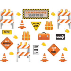 TCR8743 Under Construction Learning Zone Bulletin Board Display Image