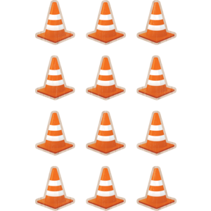 TCR8746 Under Construction Cones Mini Accents Image