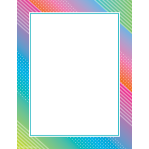 TCR8754 Colorful Vibes Computer Paper Image