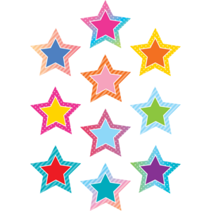 TCR8758 Colorful Vibes Stars Accents Image