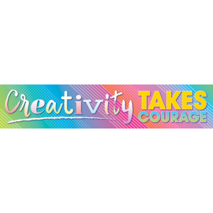 TCR8775 Colorful Vibes Creativity Takes Courage Banner Image