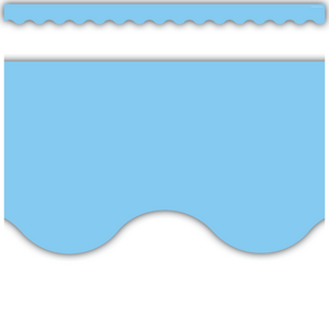 TCR8776 Light Blue Scalloped Border Trim Image