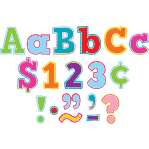 """TCR8777 Colorful Vibes Bold Block 4"""" Letters Combo Pack Image"""