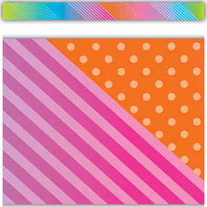 TCR8778 Colorful Vibes Straight Border Trim Image
