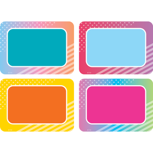 TCR8783 Colorful Vibes Name Tags/Labels - Multi-Pack Image