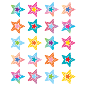 TCR8785 Colorful Vibes Stars Stickers Image