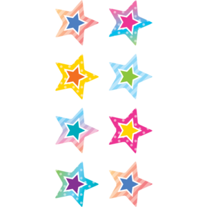 TCR8786 Colorful Vibes Stars Mini Stickers Image