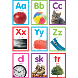 TCR8798 Colorful Photo Alphabet Cards Bulletin Board Image