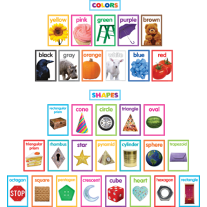 TCR8799 Colorful Photo Shapes & Colors Cards Bulletin Board Image