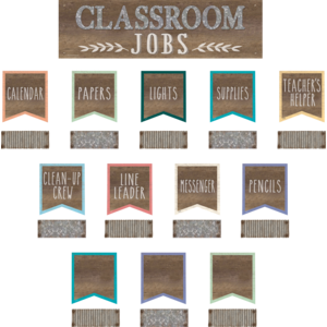 TCR8801 Home Sweet Classroom Classroom Jobs Mini Bulletin Board Image