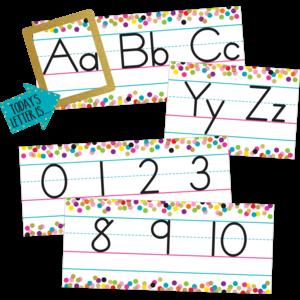 TCR8804 Confetti Alphabet Line Bulletin Board Image