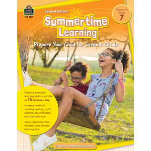 TCR8847 Summertime Learning Grade 7 Image