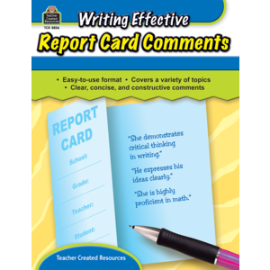 TCR8856 Writing Effective Report Card Comments Image