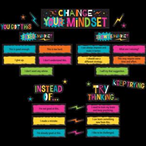 TCR8883 Change Your Mindset Mini Bulletin Board Image