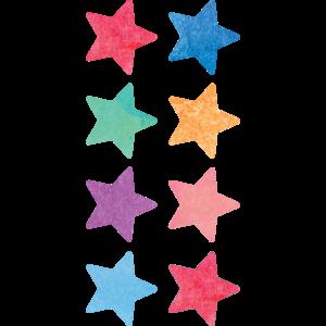 TCR8897 Watercolor Stars Mini Stickers Image