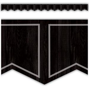 TCR8905 Modern Farmhouse Black Pennants Die-Cut Border Trim Image