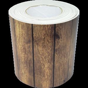 TCR8938 Dark Wood Straight Rolled Border Trim Image