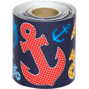 TCR8954 Anchors Straight Rolled Border Trim Image