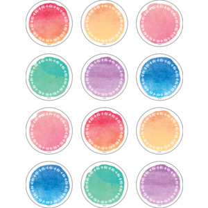 TCR8973 Watercolor Mini Accents Image