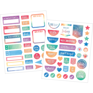 TCR8975 Watercolor Planner Stickers Image