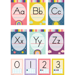 TCR9020 Oh Happy Day Alphabet Bulletin Board Image