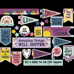TCR9023 Oh Happy Day Positive Mini Bulletin Board Image