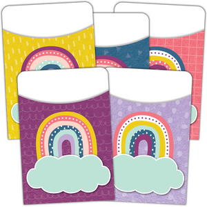 TCR9061 Oh Happy Day Library Pockets - Multi-Pack Image