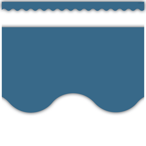 TCR9091 Slate Blue Scalloped Border Trim Image