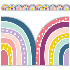 TCR9092 Oh Happy Day Rainbows Die-Cut Border Trim Image