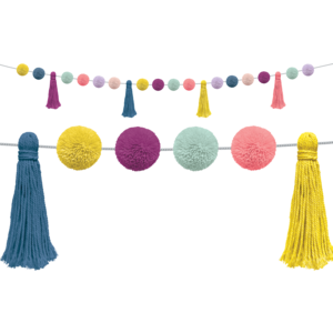 TCR9093 Pom-Poms and Tassels Garland Image