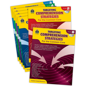 TCR9952 Targeting Comprehension Strategies for the Common Core Set Image