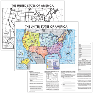 TCRM237 The United States Map Activity Posters Image
