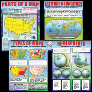 TCRP222 Basic Map Skills Poster Set Image