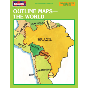 TCRR658 Outline Maps: The World Reproducible Workbook Image