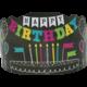 Chalkboard Brights Happy Birthday Crowns Alternate Image B